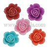Resin Cabochons, Flower, Mixed Color, 15x15x7mm