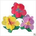 Free Shipping 3sets/lot 3D Foam Board Flower Pullzes Handmade Educations Toys For Children