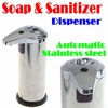 BY DHL OR EMS 50 PIECES 2012 new disign Stainless steel Auto Soap Dispenser touchless sanitizer dispenser