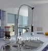 Free Shipping Wholesale And Retail  NEW Pull Out Chrome Brass Kitchen Faucet Swivel Kitchen Sink Mixer Tap Deck Mounted Faucet