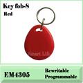 Free shpping 100 pcs EM4305 125Khz RFID Proximity ID Token Tag Key Keyfobs