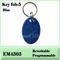 100 PCs EM4305 125Khz RFID Rewritable Proximity ID Token Tag Key Keyfobs