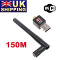 UK Stock To UK 150M Mini USB WiFi Wireless Network Card 802.11 n/g/b LAN Adapter + Antenna UPS Free Shipping 10Pcs/Lot Wholesale