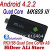 Sale! mk809 iii quad core Andorid rk3188 Cortex A9 MK809III Mini pc Androind 4.2.2TV Stick 2GB/ 8GB Android TV Stick