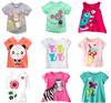 Brand 2014 new fashion kids baby girls t-shirts clothing childrens clothes 100%cotton blouse cute cartoon short t shirts GS22-42