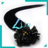 "16""-26"" Pre-Bonded hair U Tip Keratin Glue Nail Tip Hair Extension Silky Straight #01 jet black 100s/pack"