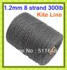Free Shipping 500M/Piece 300LB Braid Line SL Dyneema Fiber Kite Line 1.2MM super power