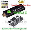 Rikomagic MK802 II Mini Android 4.0 PC Android TV Box A10 Cortex A8 1GB RAM 4G ROM HDMI TF Card +i8 wireless mini keyboard
