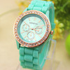 14 colors New Fashion Jelly Silicone Geneva watch women rhinestone watches for women dress watch Quartz watch 1pcs/lot