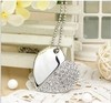 Crystal Heart Shaped USB 2.0 Flash Memory Pen Drive Sticks Metal 4GB 8GB 16GB 32GB 64GB