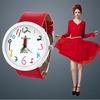 2014 New Hot Women Casual Quartz Watch.Big Dial Leather Pencil Fashion Children Cartoon Cute Boy Wristwatches.Relogio Kids Clock