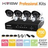 Fedex DHL Free Shipping HDMI 4CH 700TVL Outdoor Surveillance CCTV Camera Kit 4 Channel Home Security Network DVR Recorder System
