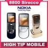 Original Nokia 8800 sirocco 128MB phones unlocked 8800S russian Keyboard language+ Desktop Charger+Case free Refurbished