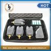 Free Shipping JY-57 Fishing bite alarm wireless fishing bite alarm set 8 LED for carp fishing bite alarm set (4alarm+1receiver)