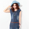Free shipping New Fashion Denim Dress Women's Skirt Casual Party Stylish Women Dresses