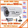 Security Sony Effio-e CCD 700tvl 960H OSD menu 36 leds IR 30 meters outdoor surveillance CCTV Camera with bracket free shipping