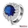 British Kate Princess Diana William Engagement Ring Platinum Plating Austrian Crystal SWA Element Rings Jewelry Ri-HQ0016