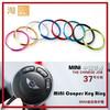 Mini cooper key ring key chain, Key replacement trim, 8 colors aluminum alloy Mini keyring