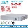 Intel atom D2500 computer thin client with fanless mini itx X-24X Mini computer host