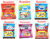 5 Styles1pcs Children laptop computer Russian language Learning machine Kids Funny Machine Early educational toy Free shipping