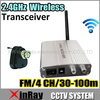 Free Shipping 2.4GHz 4 Channel Wireless CCTV Camera Receiver Transmitter Transceiver MINI Size ZJ333A