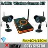2pcs 2.4GHz  Waterproof IR LED Night Vision Camera + Wireless Receiver DVR H.264 SD Card Storage CCTV  Camera DVR KIT, ZJ128DR2