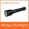 Supper bright !!!2013 New Trustfire 3 x Cree XML-T6 2600 lumens Led Diving Flashlight By 2x18650 Battery ,Freeshiping