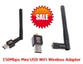 150Mbps Mini USB WiFi Wireless Adapter network LAN Card 802.11n/g/b with Antenna wireless wifi USB adapter!