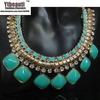 [Mix 15USD]wholesale the Newest Fashion Women Bubble Blue Lessel Chunky Bib Statement Necklace