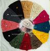 12 COLORS Women Big Size Knit Crysta Headband Lady Crochet winter Ear Warmer Headwrap hairband Factory price