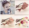 korean headband Sweet hearts multi-layer petal bow headbands for girls wholesale head band 12pcs/lot free shipping
