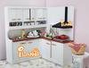 iland 1/12 Dollhouse Miniature Grand Kitchen Furniture/ white door cabinet 3PCS