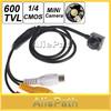 "Smallest Mini 600TVL 500MP 1 / 4"" HD Sensor Cone Pinhole CCTV Camera Hidden Covert Cam for Home Security Video Surveillance"