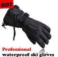 man Winter Skiing sport waterproof ski gloves, -30 degree warm winter gloves, warm motorcycle snowboard gloves, free shipping