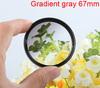 Green gradient gray filter 67mm for 60d 70d 600d 650d ef-s 18-135mm d5100 d3200 d5100 d90 85mm f/1.8g sx40 sx50 lens accessories