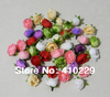 New Arrival 100pcs/Lot 3CM Artificial Flowers Head,Wedding 17Colors AF411
