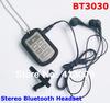 Free Shipping Earphone Wireless phone headset Handsfree HOT BT3030 Wireless Stereo Bluetooth Headset Headphone NOT BOX