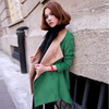 2013 High Quality Autumn Winter Korean Style Women's Fashion Elegant Woolen Overcoat Slim Long Woolen Outerwear G6175
