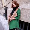 2013 High Quality Autumn Winter Korean Style Women's Fashion Elegant Woolen Overcoat Slim Long Woolen Outerwear G6175