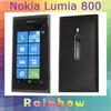 "Original Unlocked Phone Nokia Lumia 800 mobile phone WP7.5, 3.7"" Touchscreen,16G ROM + 512M RAM free shipping Refurbished"