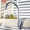 Dhl Free Shipping Kitchen Sink Faucet Waterfall Brass Chrome Finish Mixer Taps Bathroom Faucets Basin Tap Br-9115