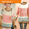 Pullovers Sweater for Women Promotion 2014 Spring Autumn New Brand Korean Style Knitted Women's Sweater Dress Sale
