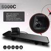 6000C HD1080P Dual Lens Camera Rearview Mirror Viedo Recorder Car DVR Blackbox G-Senser