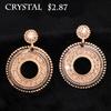 Crystal ! 2014 new arrival retro fashion Rhinestone pendant Dangle Bohemia earrings metal rings women jewelry M11