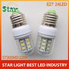 2014 hot E27 lights& lighting 220V Offices Use Energy Efficient,Corn Bulbs E27 5730 24LEDs Lamps 5730 SMD Max 9W,E27 Led Light