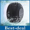 Portable Shower Waterproof Wireless Bluetooth 3.0 Speaker Car Mic Handsfree Music Mic Speaker with Suction Cup Mic - Black