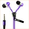 2014 Newest Metal Zipper Earphones Stereo Bass Earphone In Ear Headset Headphones With MIC 3.5mm Jack Standard Free Shipping