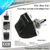 New free shipping HD CCD universal wired front/rear/left/right parking camera for any car waterproof night vision Matte Black