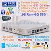 2GB DDR3L Ram 8GB SSD 4Gen Haswell Intel core i3 4010U 4 thread Gabinete PC Thin Client Mini PC Slim Computer Mini ITX HTPC