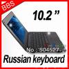 "10.1"" android 4.0 VIA 8850 512M 4GB HDMI Camera WIFI Russian keyboard Portugal lanauge Ukraine mini notebook laptop computer"